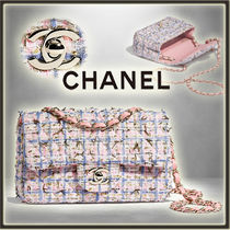 CHANEL Other Check Patterns Chain Elegant Style Shoulder Bags