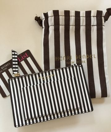 Stripes Heart Leather Card Holders