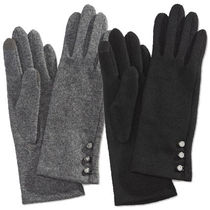 LAUREN RALPH LAUREN Wool Plain Smartphone Use Gloves