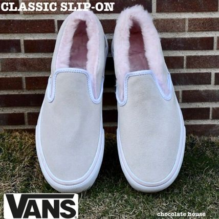 VANS SLIP ON 2018-19AW Casual Style Suede Plain Low-Top Sneakers by ... d1b1fa73c