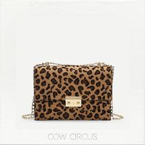 Leopard Patterns Casual Style Suede Shoulder Bags