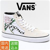 VANS SK8-HI Other Check Patterns Flower Patterns Casual Style Unisex