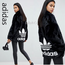 adidas Casual Style Faux Fur Varsity Jackets