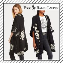 POLO RALPH LAUREN Cable Knit Wool Long Gowns Tribal Elegant Style Puff Sleeves