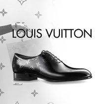 Louis Vuitton Monogram Plain Leather Oxfords
