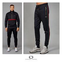 CRIMINAL DAMAGE Stripes Street Style Plain Joggers & Sweatpants
