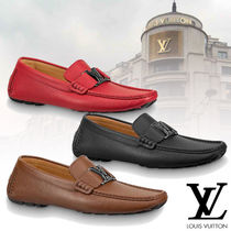 Louis Vuitton Moccasin Plain Leather Loafers & Slip-ons