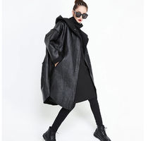 Casual Style Unisex Faux Fur Blended Fabrics Plain Long