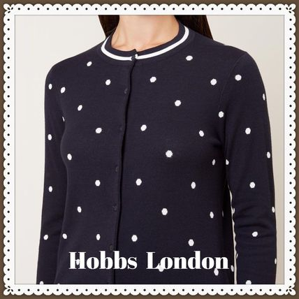 Dots Long Sleeves Cotton Cardigans