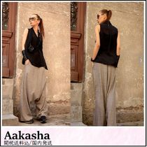 Aakasha Other Check Patterns Casual Style Long Handmade