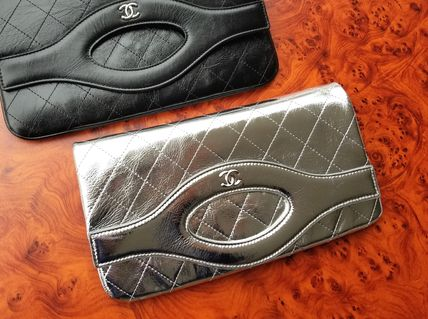 CHANEL Clutches Leather Clutches 7