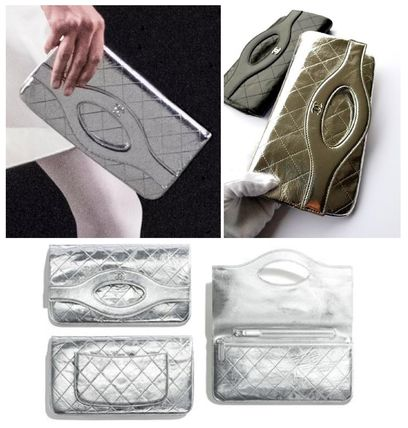 CHANEL Clutches Leather Clutches 2