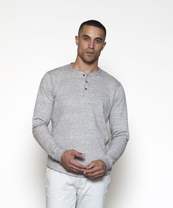 Outer known Pullovers Unisex Henry Neck Plain Cotton Handmade Logo
