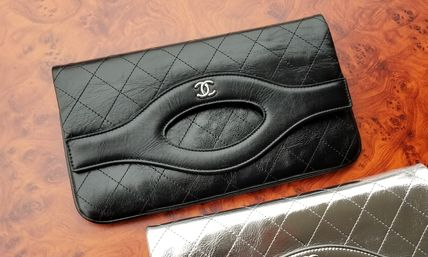 CHANEL Clutches Leather Clutches 6
