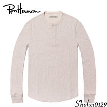 Ron Herman Pullovers Unisex Henry Neck Plain Cotton Handmade