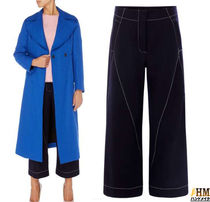 MaxMara Wool Plain Medium Office Style Culottes & Gaucho Pants
