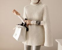 Cable Knit Casual Style Sweat Turtlenecks