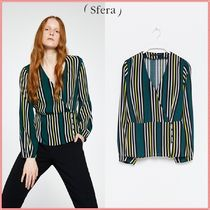 Sfera Stripes Casual Style Long Sleeves Shirts & Blouses