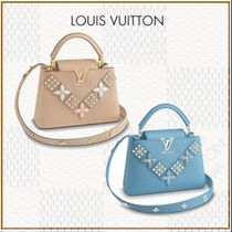Louis Vuitton 2WAY Leather With Jewels Handbags