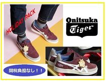 Onitsuka Tiger Unisex Street Style Plain Other Animal Patterns Leather