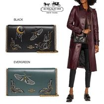 Coach 2WAY Other Animal Patterns Leather Clutches