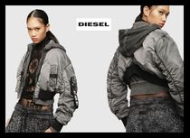 DIESEL Short Casual Style Street Style Plain Bomber Jackets