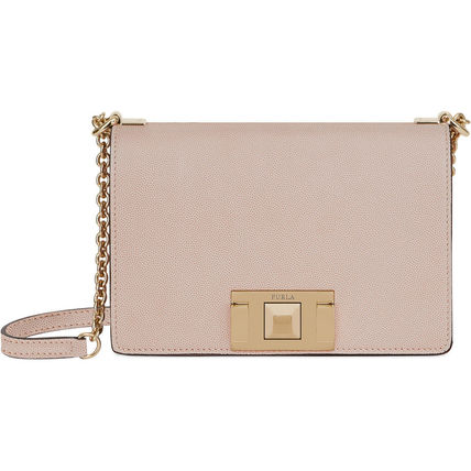 Plain Leather Party Style Crossbody Shoulder Bags