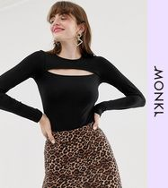 MONKI Casual Style Long Sleeves Tops