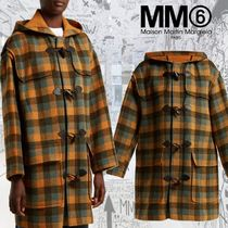 MM6 Maison Margiela Other Check Patterns Casual Style Wool Duffle Coats