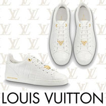 Louis Vuitton Round Toe Casual Style Plain Leather Low-Top Sneakers