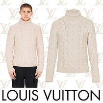 Louis Vuitton Wool Low Gauge Long Sleeves Plain Vests & Gillets
