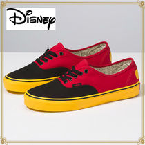 Disney Plain Toe Casual Style Unisex Collaboration Low-Top Sneakers