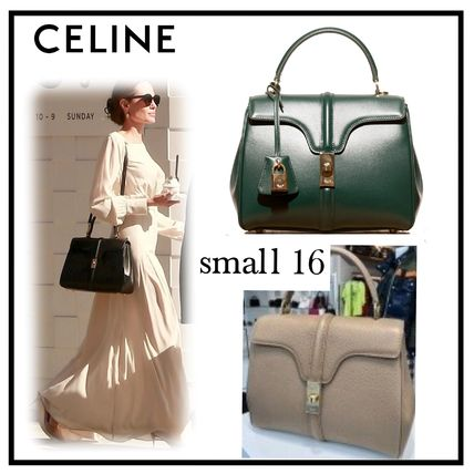 CELINE Shoulder Bags Calfskin 2WAY Plain Elegant Style Shoulder Bags