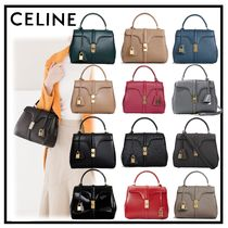 CELINE 16 Calfskin 2WAY Plain Elegant Style Shoulder Bags