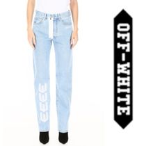 Off-White Cotton Wide & Flared Jeans