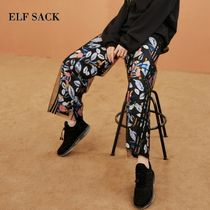 ELF SACK Casual Style Street Style Long Oversized Pants