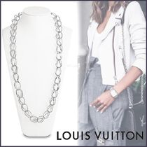 Louis Vuitton Unisex Silver Elegant Style Necklaces & Pendants