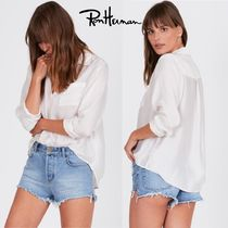 Ron Herman Casual Style Cropped Plain Medium Handmade Shirts & Blouses