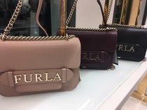 FURLA Casual Style 3WAY Plain Leather Shoulder Bags