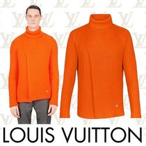 Louis Vuitton Cashmere Low Gauge Long Sleeves Plain Vests & Gillets