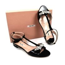 MiuMiu Party Style With Jewels Sandals