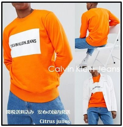 Calvin Klein Sweatshirts Crew Neck Pullovers Street Style Long Sleeves Cotton