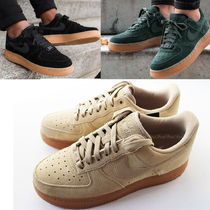 Nike AIR FORCE 1 Unisex Suede Plain Sneakers