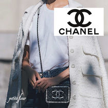 CHANEL Casual Style Street Style Plain Shoulder Bags