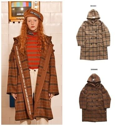 Other Check Patterns Casual Style Long Coats