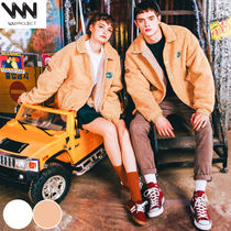 WV PROJECT Unisex Street Style Collaboration Plain Jackets