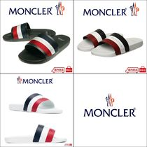 MONCLER BASILE Unisex Shower Shoes Flipflop Logo Shower Sandals