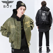 BOY LONDON Unisex Street Style Collaboration Plain MA-1 Bomber Jackets