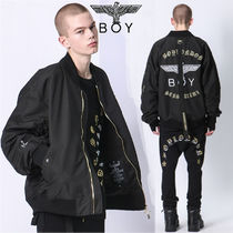 BOY LONDON Unisex Street Style Collaboration Plain Medium MA-1