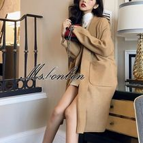 Plain Medium Elegant Style Wrap Coats